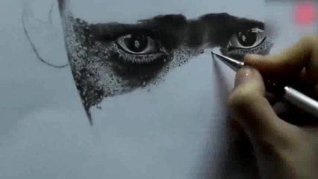 素描图片大全简单漂亮素描基础入门教程素描cut超写实铅笔素描——男人头像素描教程