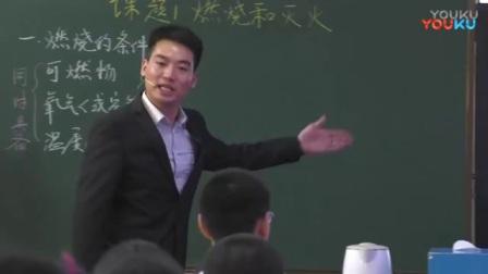 全国初中化学课堂教学展示与观摩活动《燃烧与灭火》教学视频,刘永林