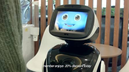 派宝机器人PadBot P3 迎宾接待跳舞(英文版)