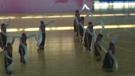青海省西宁市城北雪莲锅庄队藏族舞蹈