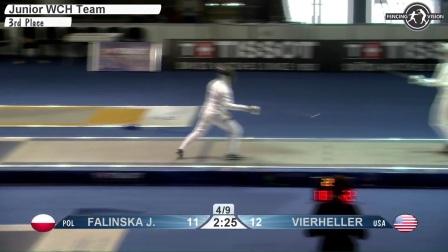 2017保加利亚世界青少年击剑锦标赛 女重团体半决赛 03UNITED STATES USA vs POLAND POL
