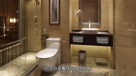 这样的卫生间装修风格,档次太高了