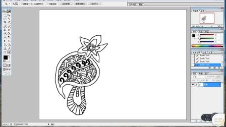花卉装饰画怎么画好看的线条跟李老师学画画2018.03.06~08.4932