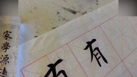 毛笔字书法入门教程书法教学视频心经: 82有钢笔行书