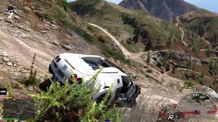 GTA5: 麦克闲来无事又提豪车布加迪来上最高山  不能踩油门啊