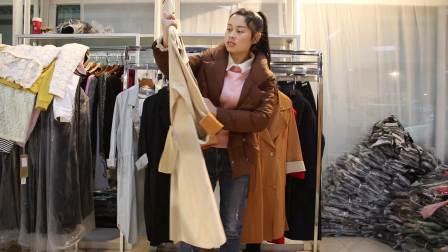 精品女装批发服装批发时尚春秋款风衣外套15件起批,,可挑款零售混批