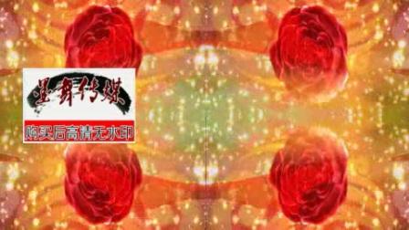 幸福玫瑰玫瑰花旋转花瓣图案红丝绸飘带光斑led背景视频素材.mp4