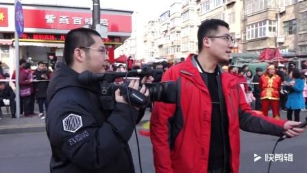 临淄空竹分会杨副会长接受记者采访