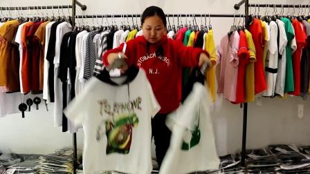 衣源购380期女装短袖女T走份视频看货