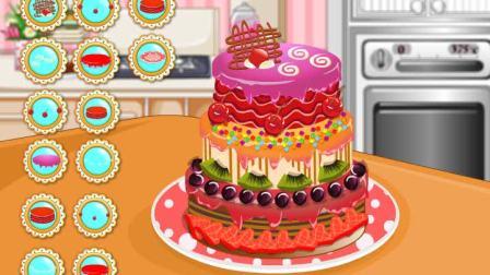 九儿小游戏 可爱女孩学做蛋糕