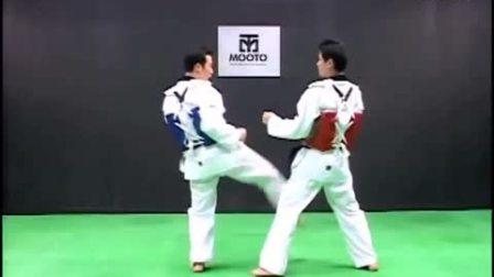 跆拳道教学-11Taekwondo- Tecnica de combate vol.1-4 'basic skills'_HD_高清
