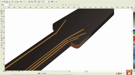 CDR设计,中级班案例教学CDR绘制吉他造型设计(下)