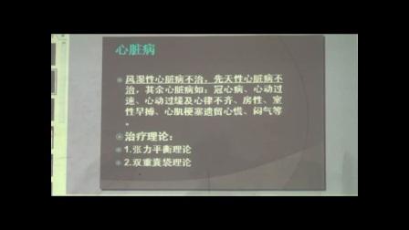 中医针灸培训-王军旗毫刃针疗法心脏病包括的内容及治疗点视频