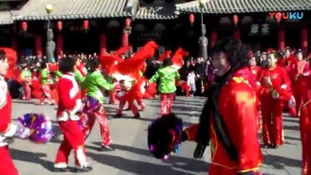 大同2018年春节庙会正月十四华严寺广场秧歌表演6