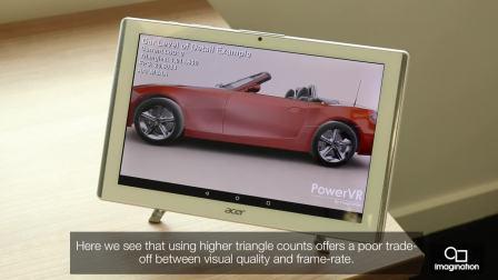 高效、低功耗、小型化封装的PowerVR 8XE完全能够生成足够详细的3D模型