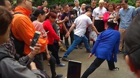20180317广州越秀公园黄中宫道长给大家纠功1