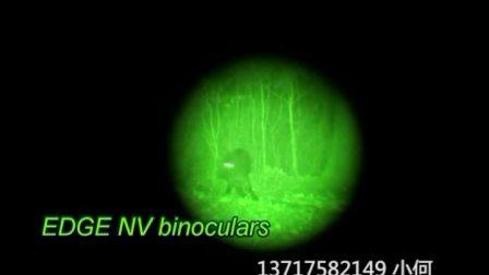 实拍红外线夜视仪成像效果