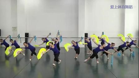 13朵小花跳扇子舞《谁不说俺家乡好》美翻了! 民族舞蹈 群舞 女子
