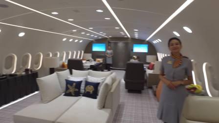其它,著名飞友SamChui带你领略金鹿航空(DeerJet)私人787内部(英文)