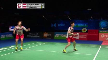 2018全英赛男双决赛集锦 吉迪恩苏卡穆约VS鲍伊摩根森