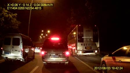 VD1008 1080P 超高清行车记录仪 晚上效果视频 带GPS 轨迹记录