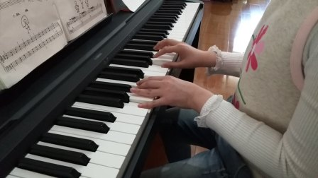 赛雯电钢琴弹奏《钢琴天天练练》