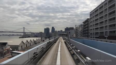 Shimbashi to Odaiba-Kaihinkoen Yurikamome - Tokyo - 新橋駅~お台場海浜公園駅 - 4K Ultra HD