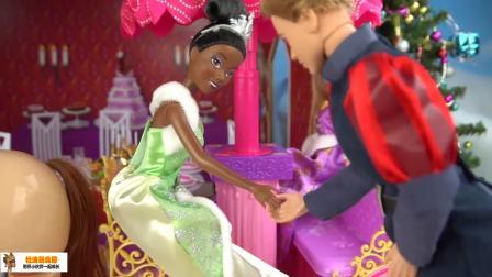 芭比娃娃过圣诞 长发公主的圣诞晚会
