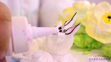 奶油裱花十二生肖兔子