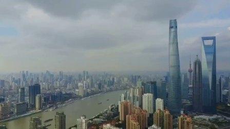 航拍上海华润时代广场