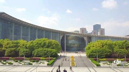航拍上海科技馆
