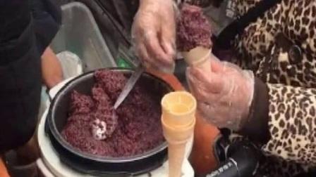 奶奶做的蛋筒冰淇淋3块一个,可奶油下面,却吃不出冰淇淋的味道