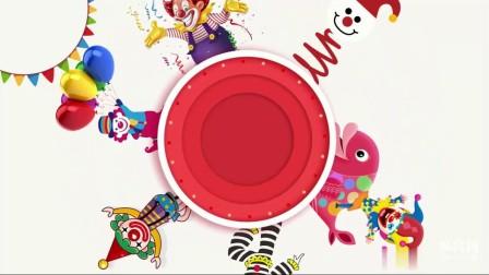 B715 AE模板 愚人节小丑 彩带礼花卡通旋转动画片头视频制作