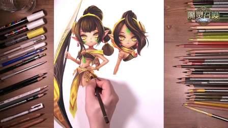 魔灵召唤《双胞胎》手绘视频
