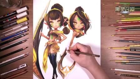 魔灵召唤《双胞胎》手绘视频 30S