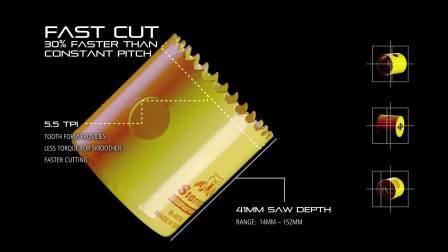 Starrett UK - Bi-Metal Fast Cut Hole Saws (1080p)