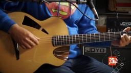 一把酷酷的手工吉他飞鸟吉他左轮评测