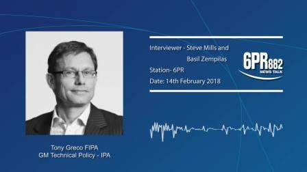 IPA's Tony Greco on Radio