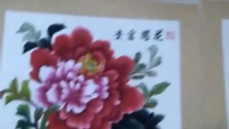 吴晓娟50x50境片卡纸写意国画牡丹