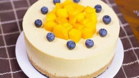 【免烤箱蛋糕】零失败芒果慕斯蛋糕做法一