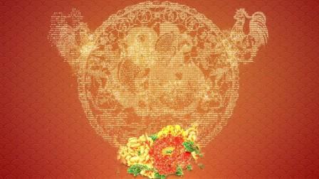 大气元宵节花开富贵黄金粒子鸡年剪纸图案开场片头模板——www.lixiaomeng.net李小萌模板