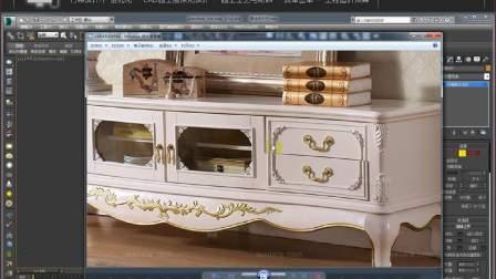 3DMAX建模  入门古典雕花抽屉柜教程