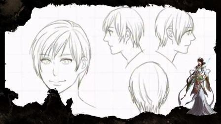 头发的画法大集合,各种漫画插画角色发型展示