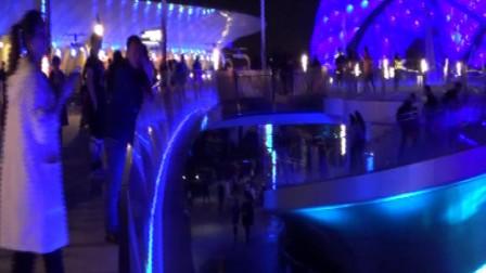 上海迪士尼乐园明日世界夜景