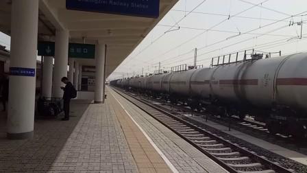 1455次(通辽—呼和浩特)进沙岭子西站2站台