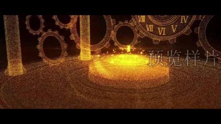 SP0136-时间都去哪儿了当你老了时间飞逝旋转的时钟钟表LED视频素材