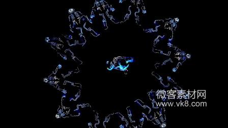 18sp210 LED荧光震撼动感舞蹈街舞附音乐微客素材网实拍高清视频素材LED舞台背景视频免费素材