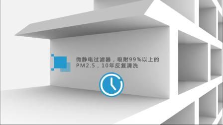CAP中央空调净化器创意3D视频20180402