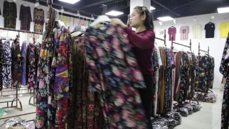精品女装批发服装批发女士时尚夏款长袖棉麻均码大版连衣裙30件起批,可挑款零售混批