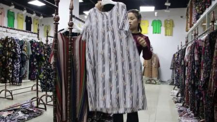 精品女装批发服装批发女士时尚夏款棉麻短袖均码大版连衣裙30件起批,可挑款零售混批